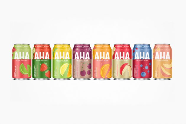 coca cola aha sparkling water fruit 2020