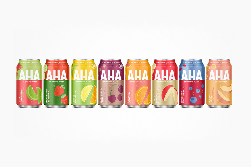 coca cola aha sparkling water fruit 2020