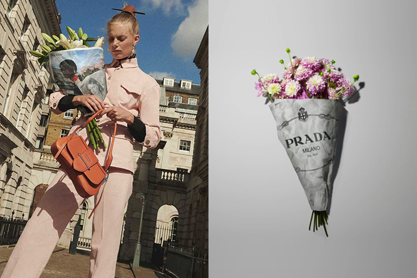 Prada 2020 Resort Collection flower shop