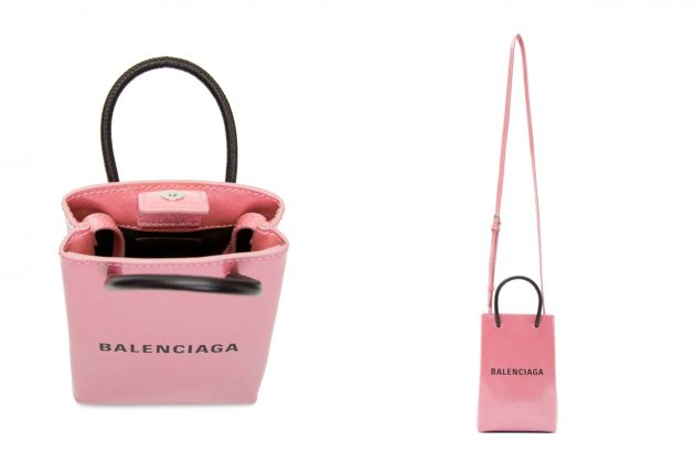 balenciaga pink glitter shopping tote new color ville bag