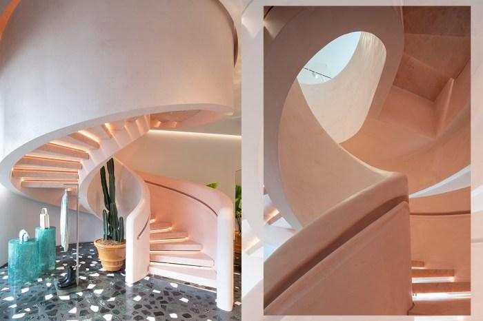 Dianel Lee 首次為 Bottega Veneta 設計新店,粉色旋轉樓梯太美了吧?