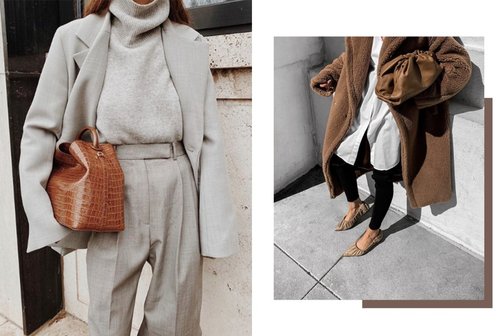 Brown Handbag and Coat