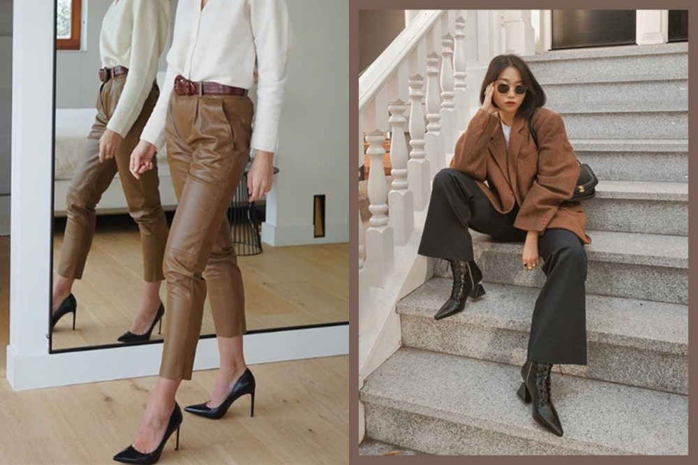 Brown Leather Pants and Blazer