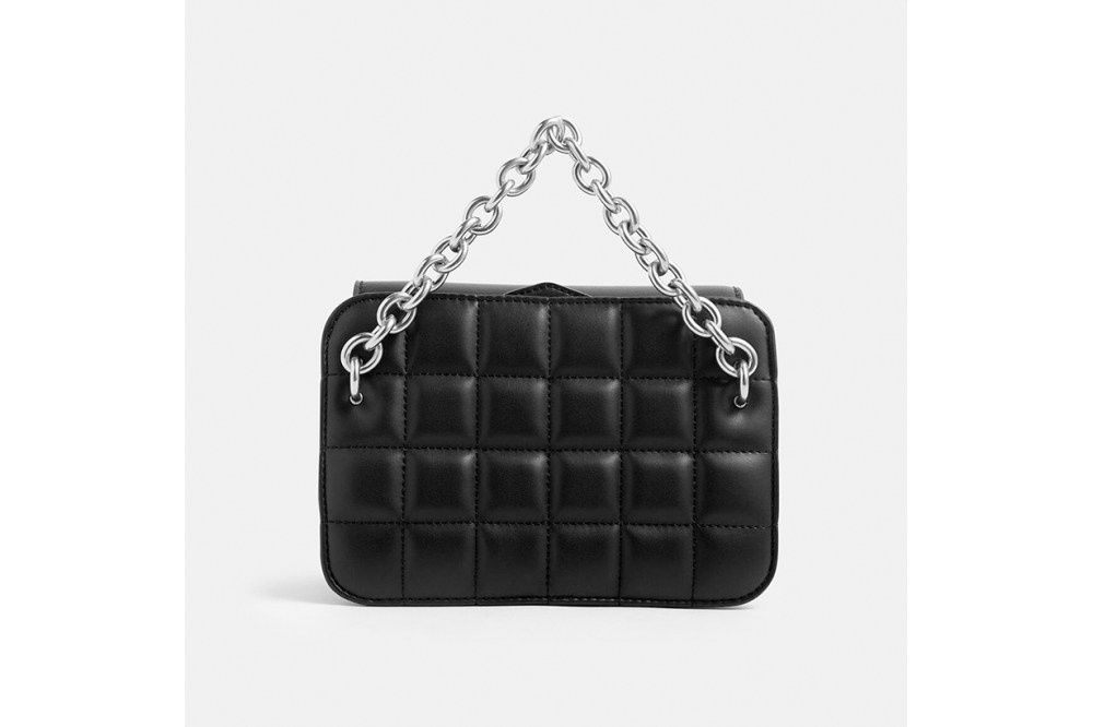 Chunky Chain Strap Quilted Shoulder Bag