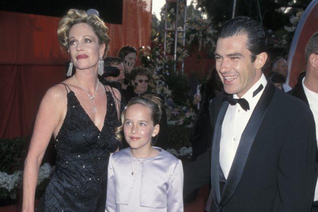 Dakota Johnson Antonio Banderas stepfather awards relationship