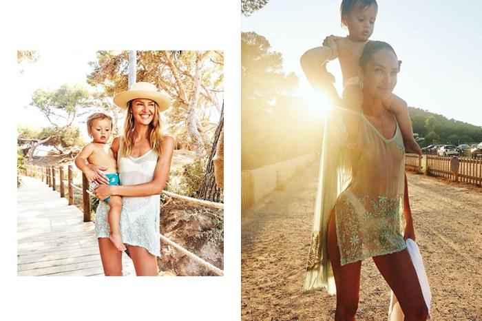 身為兩個小孩的媽媽,Candice Swanepoel 街拍照露出結實腹肌引起討論!