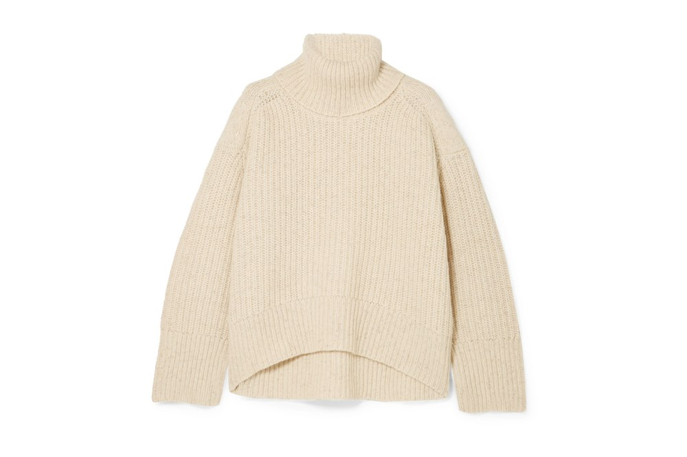 Diana Ribbed Wool-blend Turtleneck Sweater