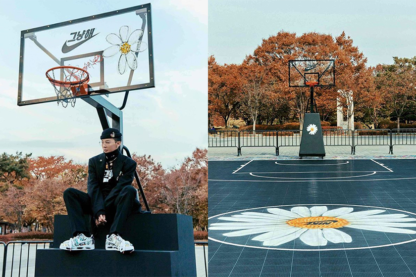 g dragon peaceminusone nike air force 1 para noise seoul event olympic park basketball court