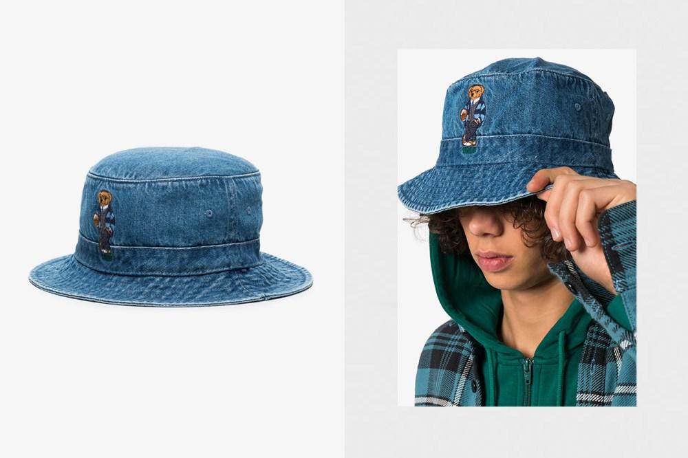 polo ralph Lauren blue teddy bear denim bucket hat release