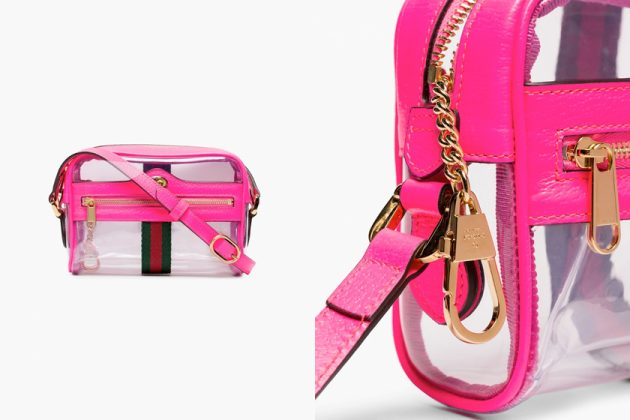 gucci ophidia pvc handbags browns pink yellow new