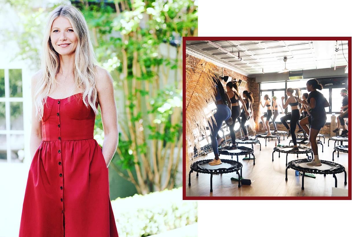 Gwyneth Paltrow Miranda Kerr Britney Spear Madonna Gisele Bundchen  Trampoline Rebounding  exercises workout keep fit lose weight