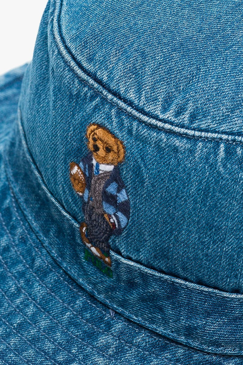 polo ralph Lauren blue teddy bear denim bucket hat release
