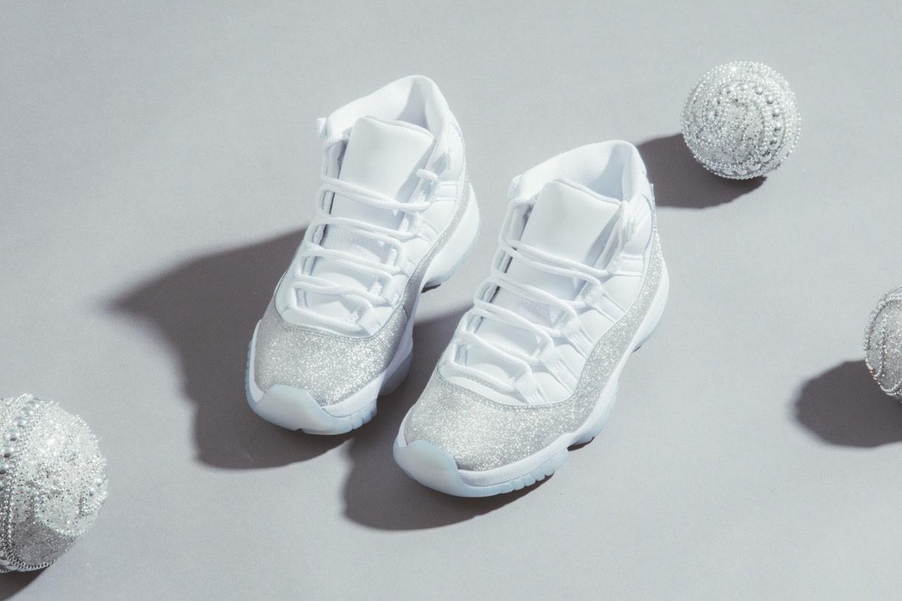 nike air Jordan 11 retro metallic silver glitter sneaker
