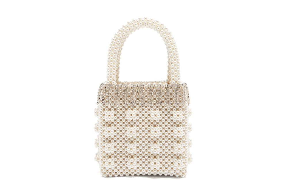 Huckleberry Faux-pearl and Crystal-embellished Bag