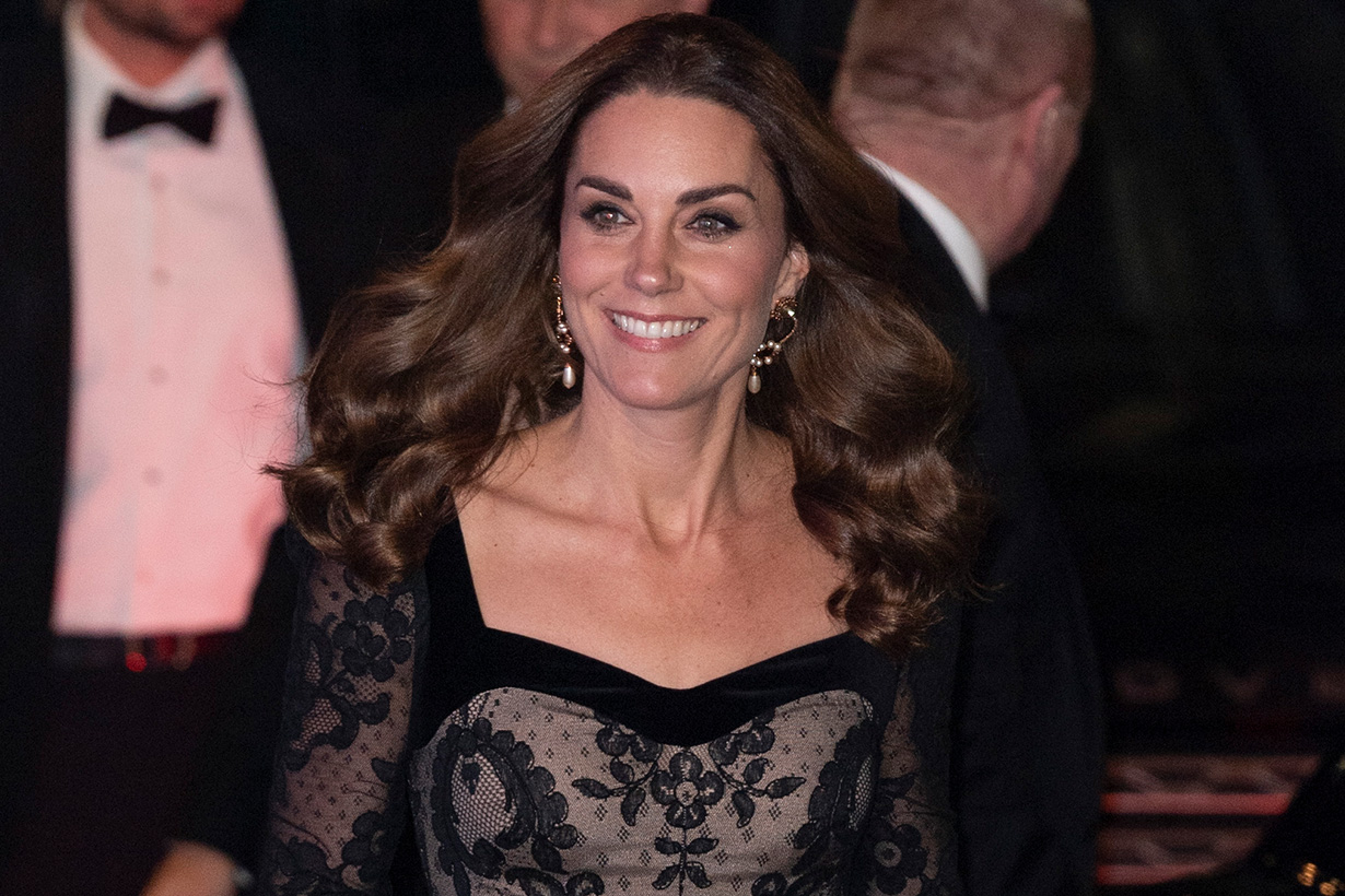 kate-middleton-alexander-mcqueen gown dress Royal Variety Performance
