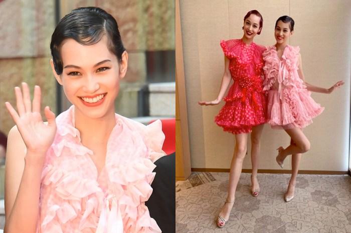 水原姐妹花一同踏上東京影展,可愛夢幻的洋裝出自香港設計師之手!