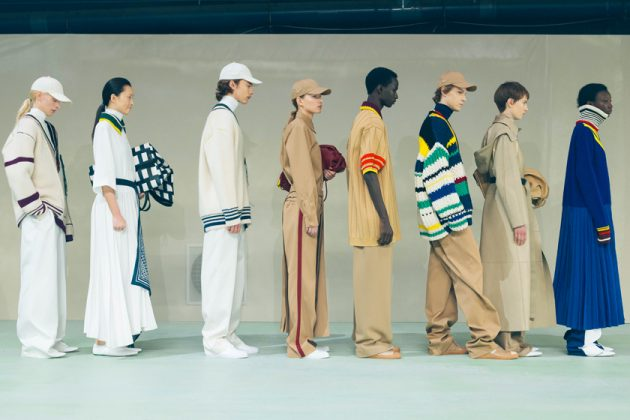 lacoste aw19 runway artifacts Louise Trotter