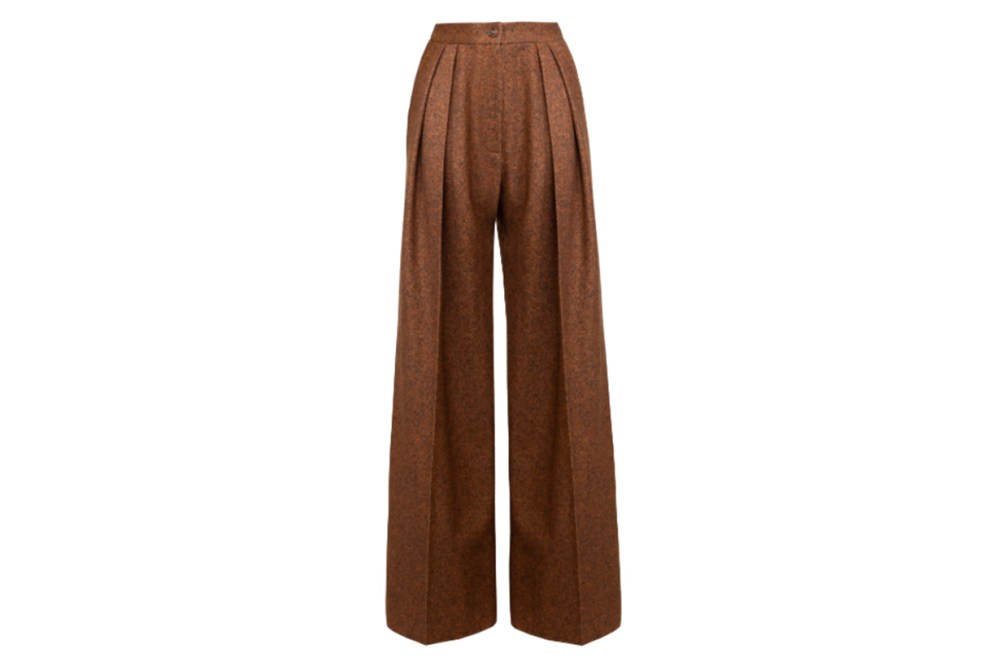 Lake Studio Mid-Rise Pleated Wool And Silk Blend Wide-Leg Pants