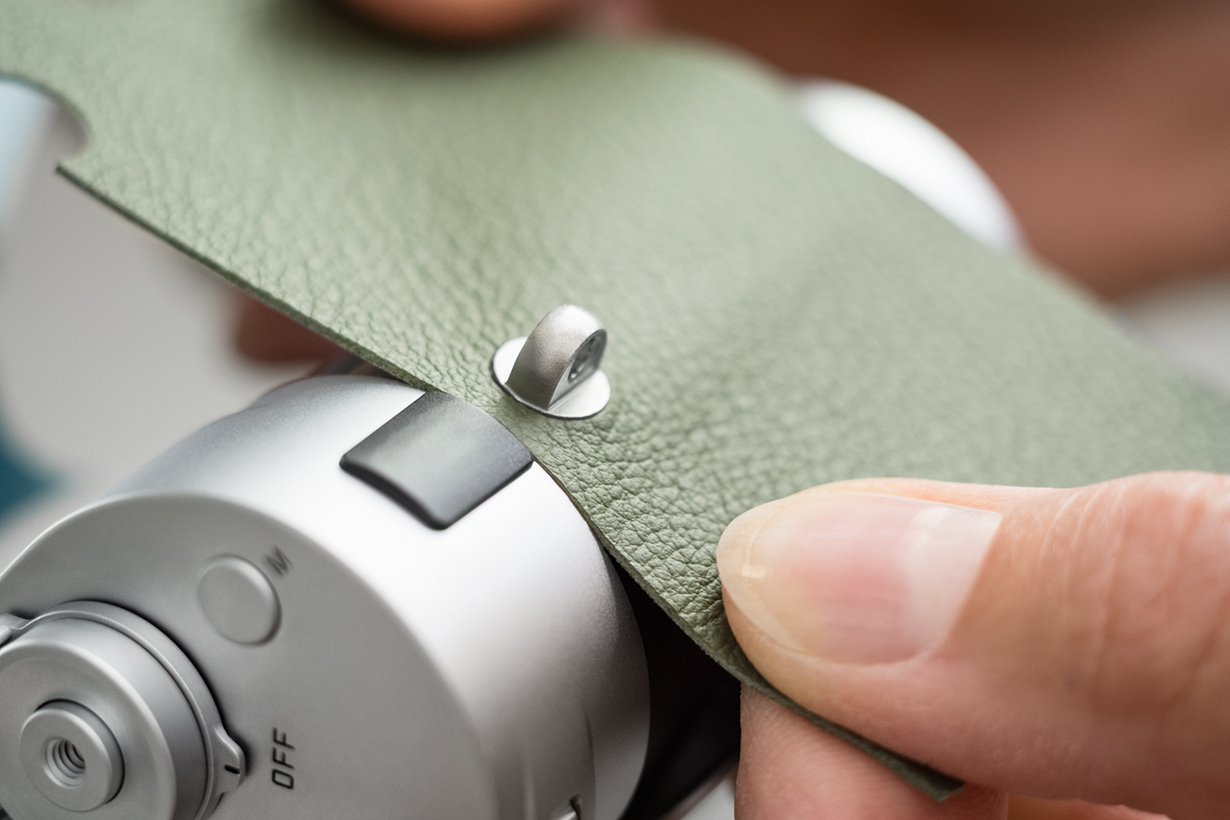 Leica personalised leather