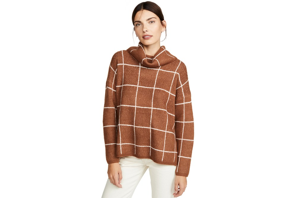 Line & Dot Check Sweater