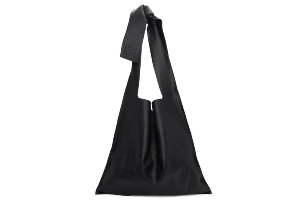 Loewe Black Leather Bow Tote