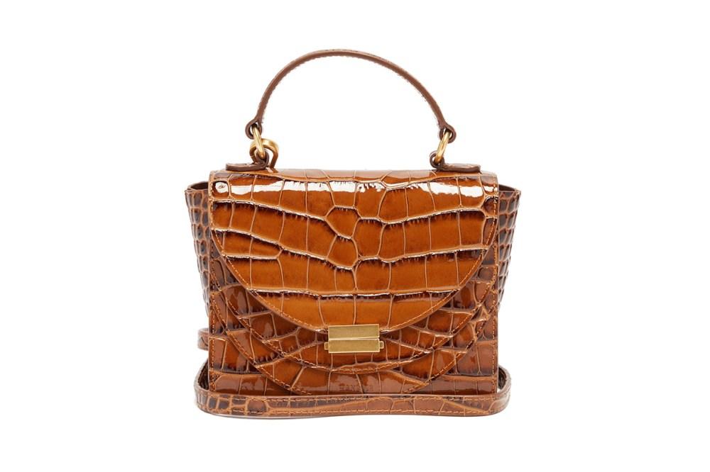 Luna Mini Crocodile-effect Leather Cross-body Bag