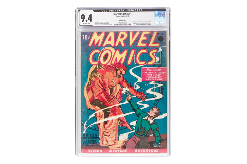 marvel first comic books auction expensive ever price 1939