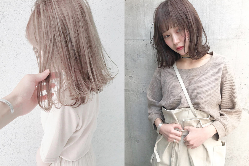 hair dye milk tea color top 3 japanese stylist girl