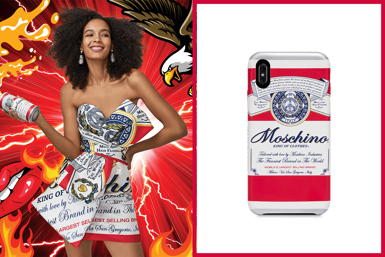 Moschino X Budweiser capsule collection 2019