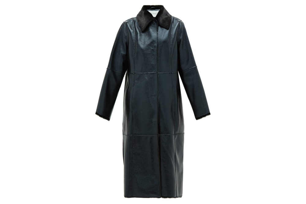 Nino Single-breated Reverse Faux-shearling Coat