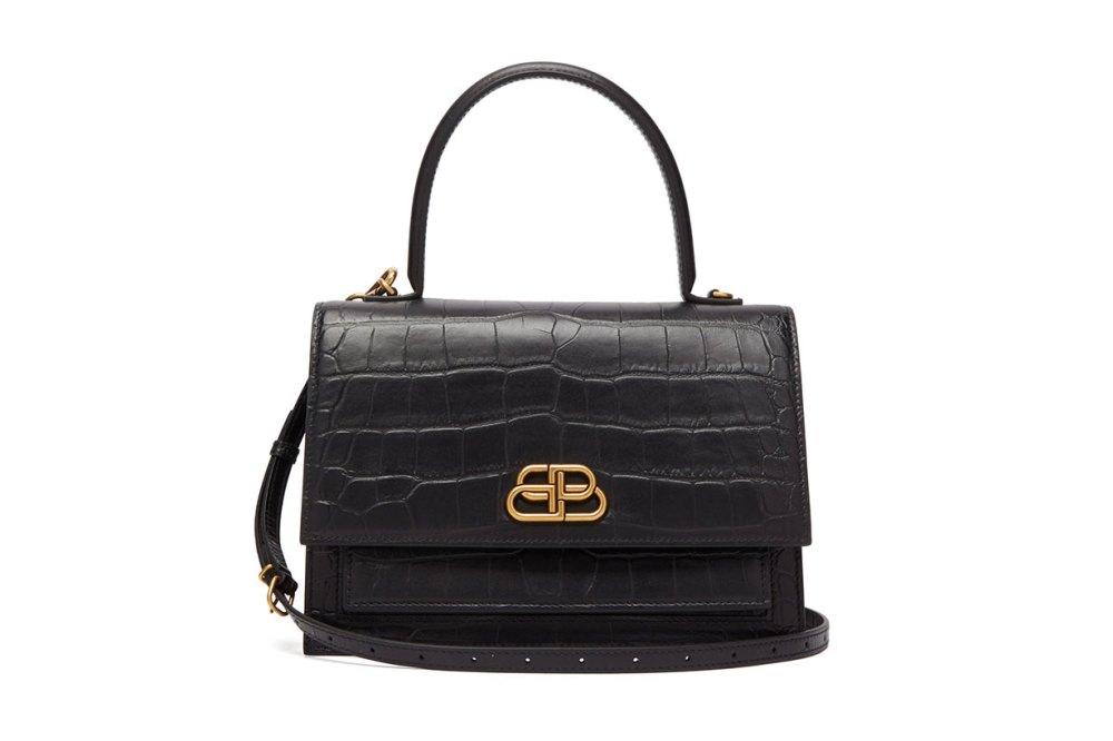 Sharp M Lizard-effect Leather Bag