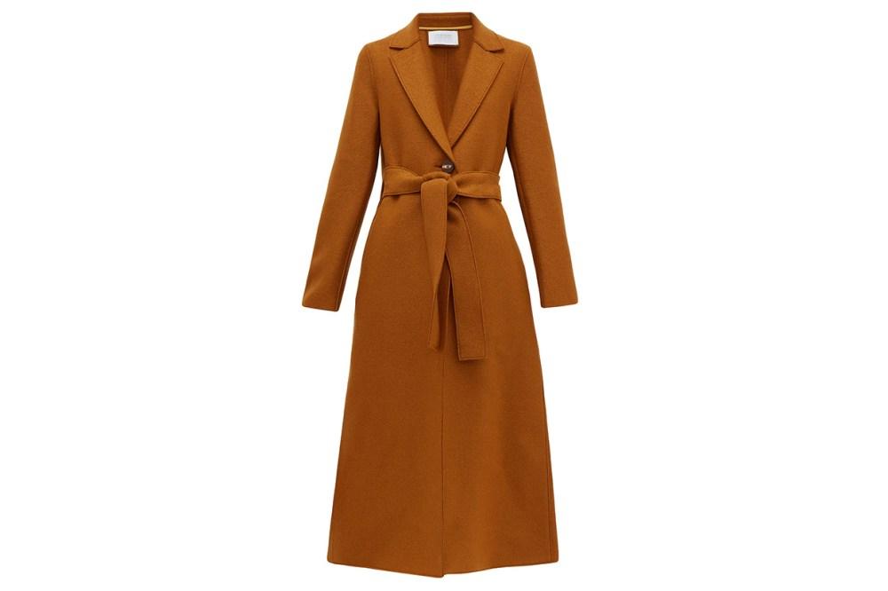 Single-breasted Pressed-wool Coat