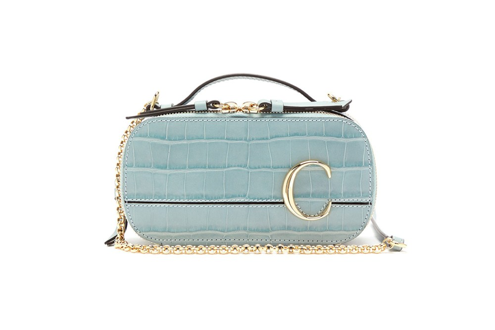 The C Mini Croc-effect Leather Cross-body Bag