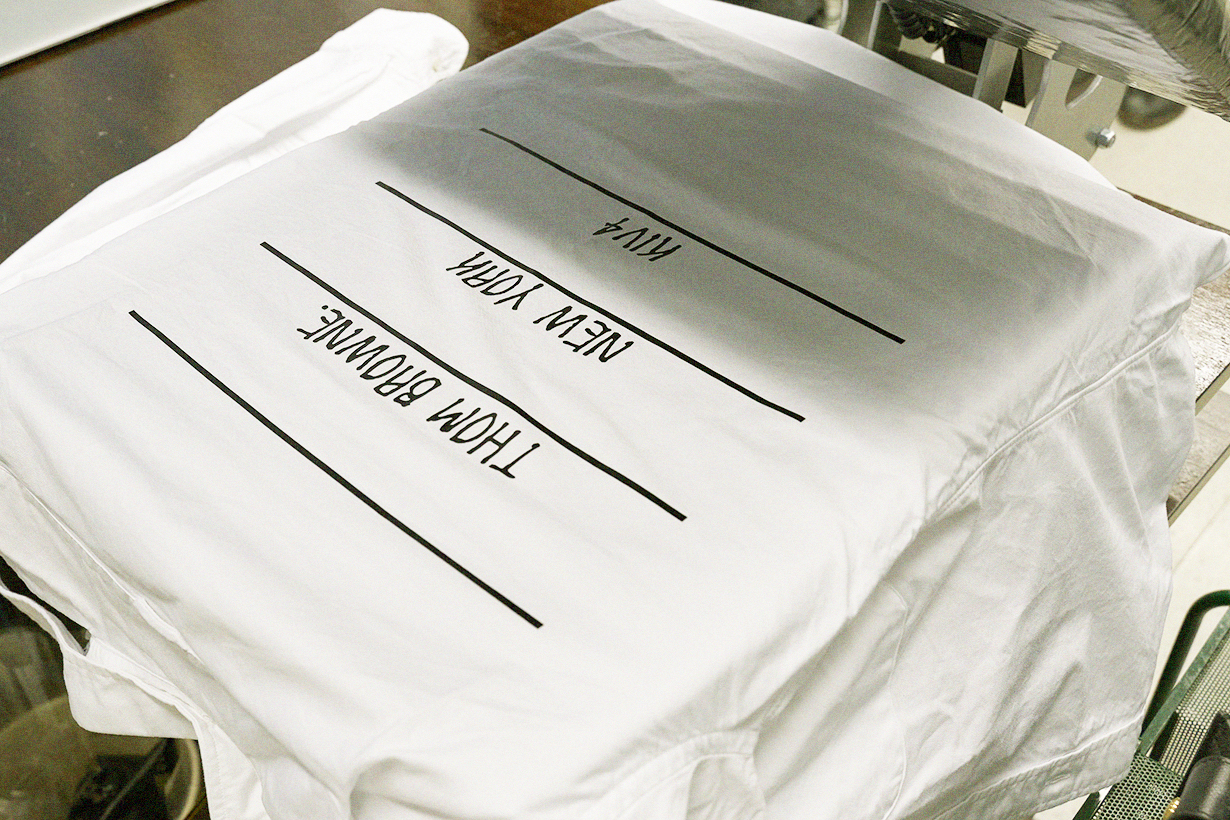 Thom Browne Heat-Pressed Customized Printing Project