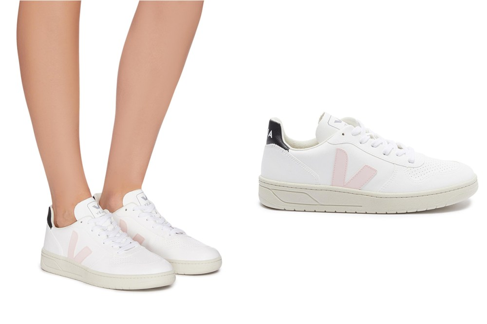 V-10 Perforated Vegan Leather Sneakers