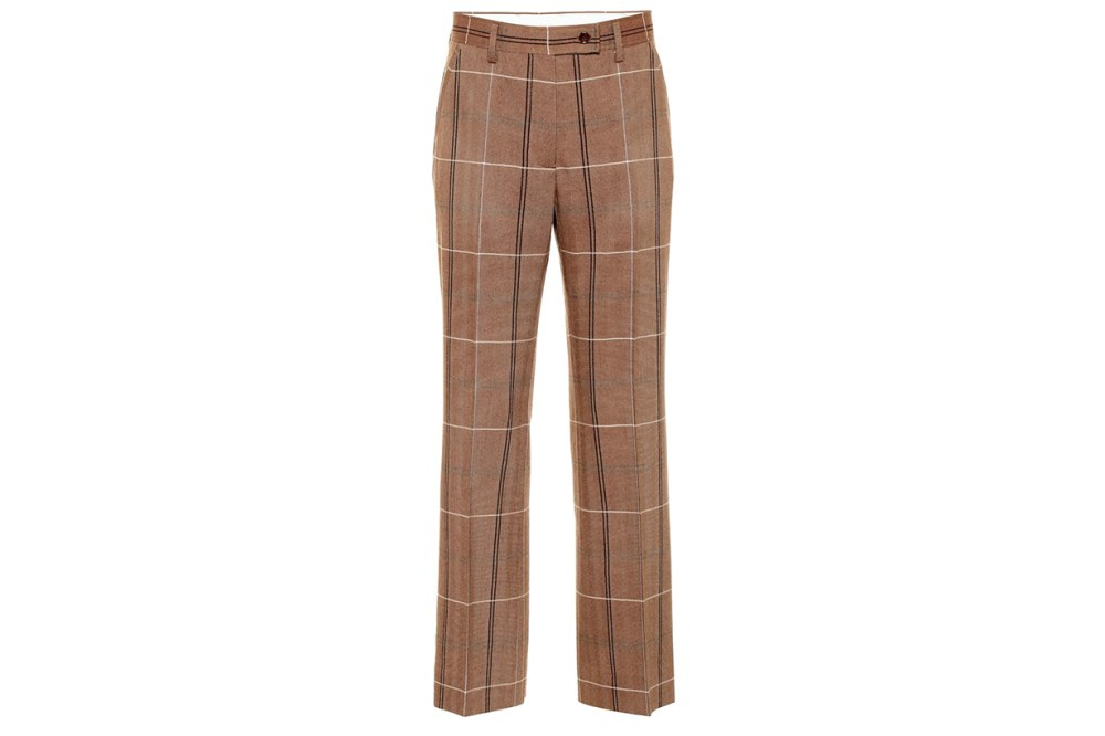 Wool and Cotton-blend Pants