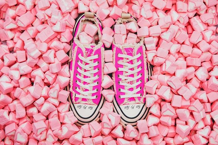 解構加上毛邊設計,xVESSEL x UNITED ARROWS&SONS 推出粉色帆布鞋!