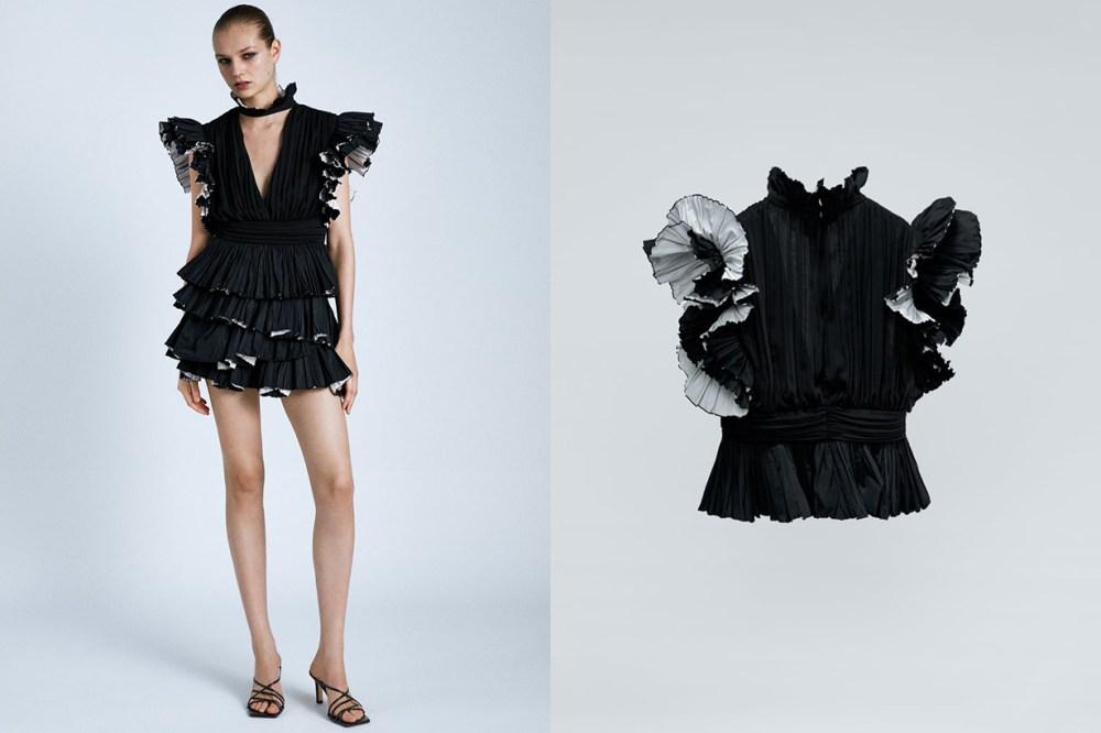 Zara-荷葉邊袖上衣-599