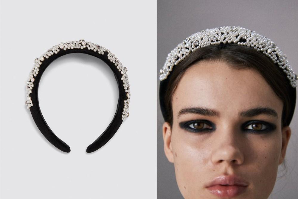 Zara-水鑽和人造珍珠鑲飾髮箍299