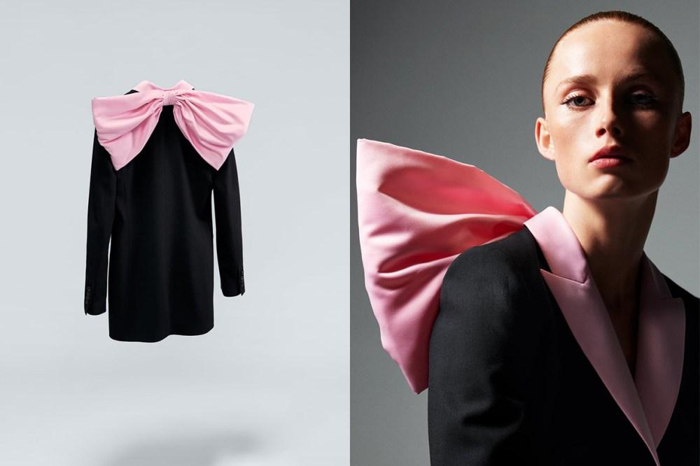 Zara-撞色蝴蝶結西裝外套洋裝999