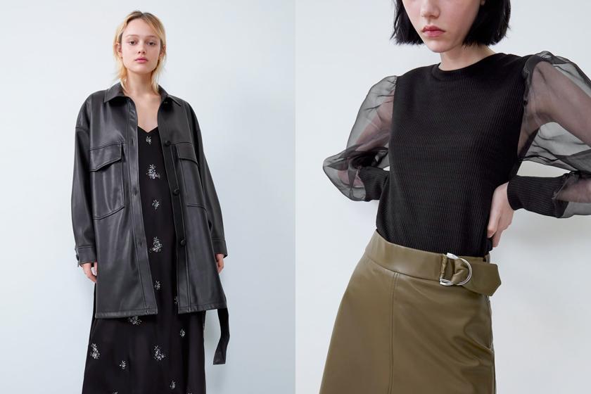 zara leather items 2019 fw jacket skirt shirts pants