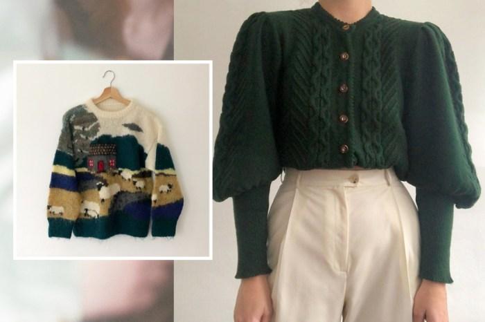 今年冬天就從奶奶的衣櫃裡偷一件毛衣,復古的編織圖紋時髦度滿分!