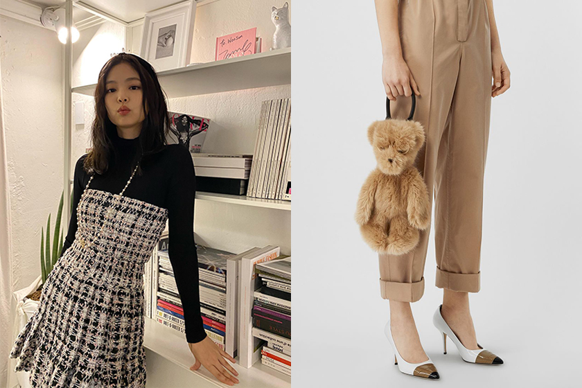 BLACKPINK Jennie Airport Lovely Bear Outfit