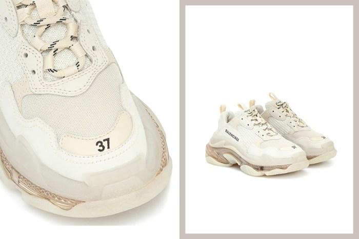 質感的淡奶油色好迷人!Balenciaga 為人氣鞋款 Triple S 帶來「Off-White」配色!