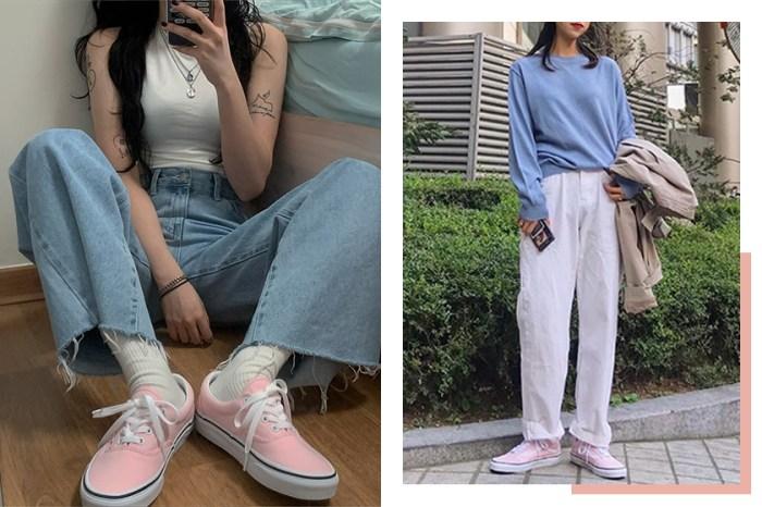 想入手球鞋的你必須關注:現在韓國女生都在穿這雙淡粉色 Vans 鞋!