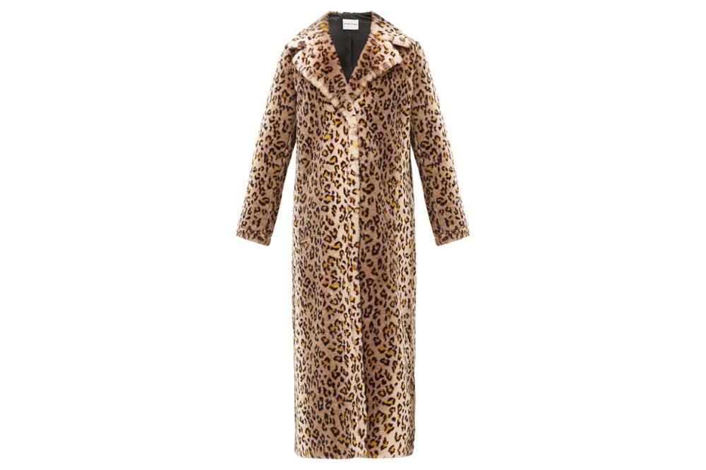 Alena Leopard Print Faux-fur Coat