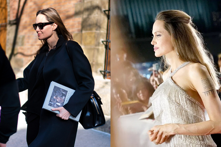 angelina jolie outfit everlane Gabriela Hearst price item