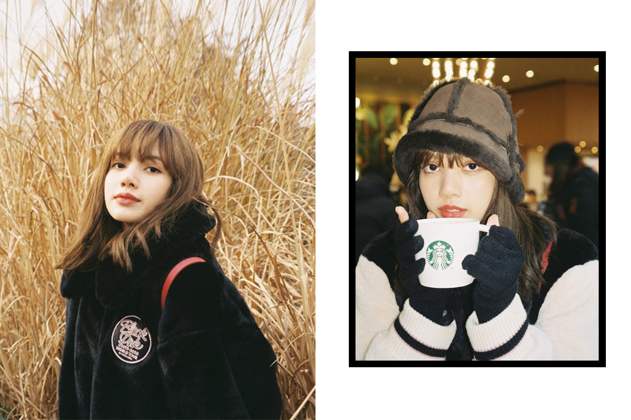 BLACKPINK Lisa's Teddy Bear Jacket Outfit