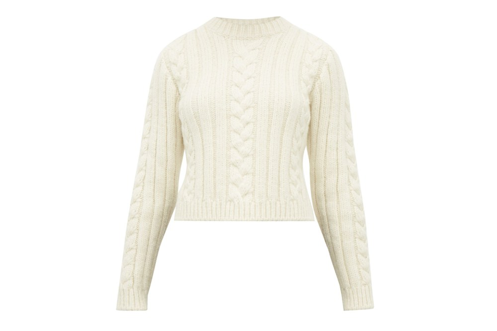 Cable-knit Alpaca-blend Sweater