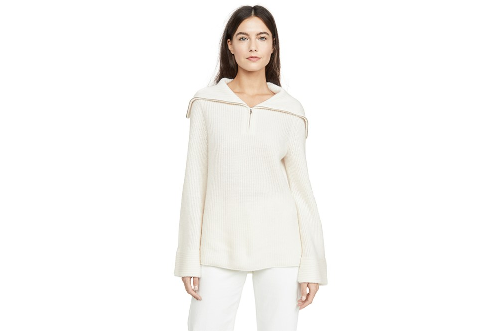 Cashmere Zip Front Sweater